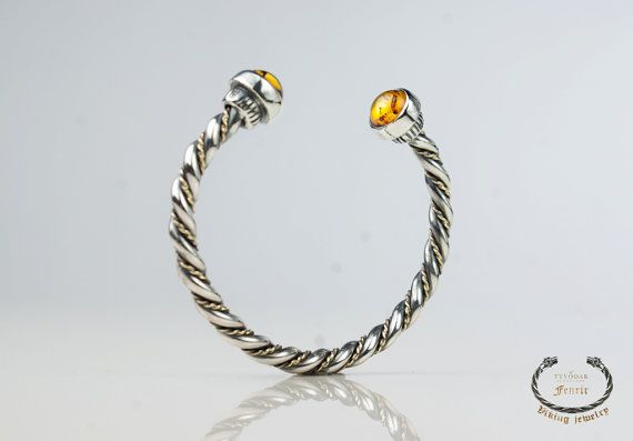 Silver Viking bracelet  cuff bracelet    viking jewelry by TYVODAR