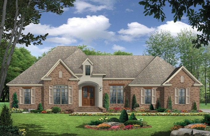 European House Plan with 2419 Square Feet and 3 Bedrooms from Dream Home Source | House Plan Code DHSW076598