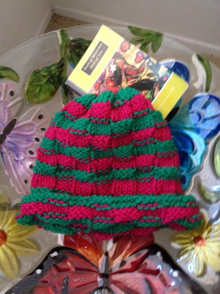 this is my basket weave christmas hat