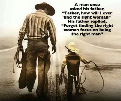 Be the right man and the right woman will follow!