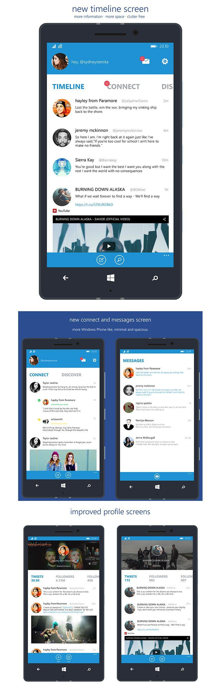 twitter for Windows Phone app smartphone