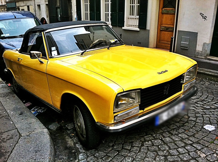 peugeot 304 cabriolet montmartre paris photo by me yellow car peugeot 304 pinterest. Black Bedroom Furniture Sets. Home Design Ideas