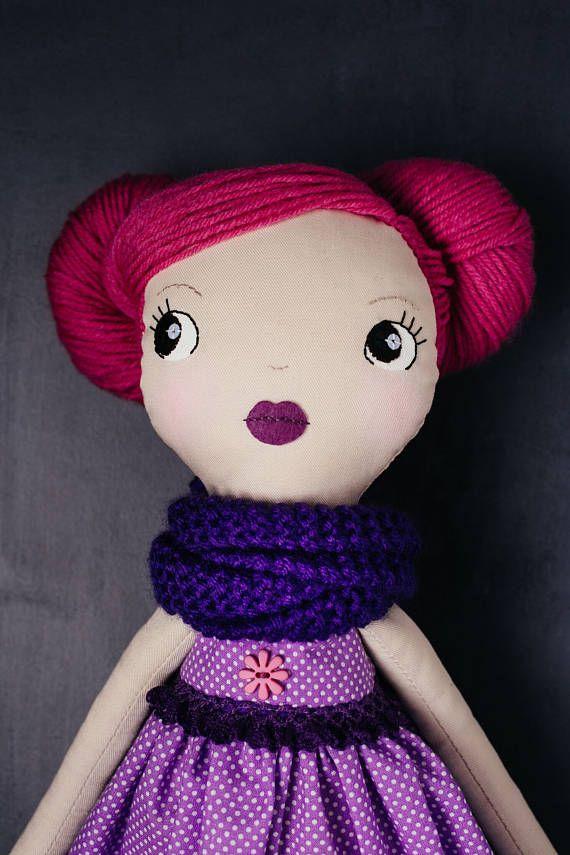 Julia handmade OOAK doll art doll cloth doll rag doll