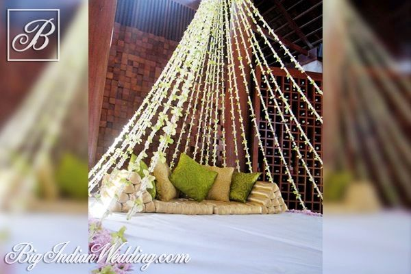 I Do Etc. floral canopy for mehendi functions
