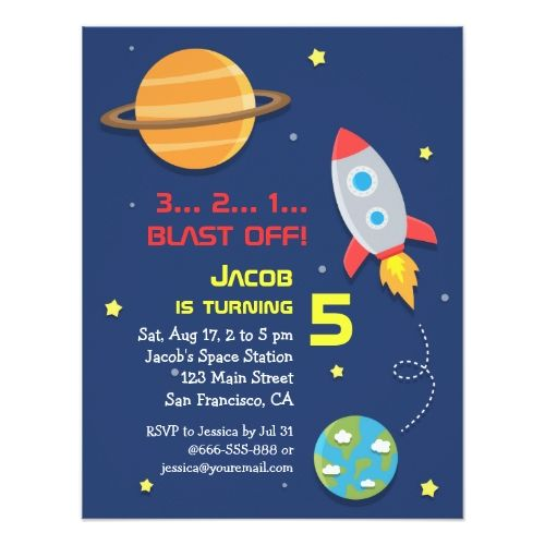 120 best Space Birthday Party Invitations images on ...