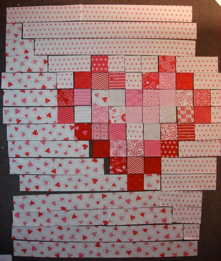 Moda Bake Shop: Big Hearted Quilt. Would be a cool quilt with a big heart in the middle of it.