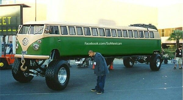 Limo Vw Bus Trucks Minis Custom Bagged Pinterest