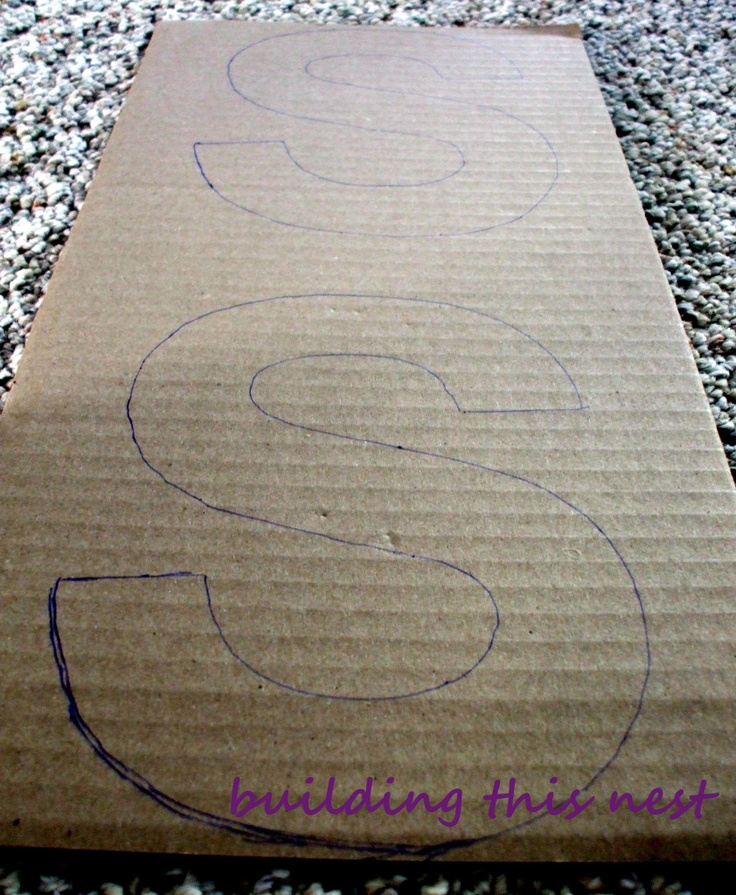 DIY Cardboard Lettering.. way cheaper than wood!!