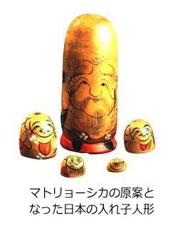 マトリョーシカの原案となった箱根の入れ子人形 First Matryoshka originated from nested wooden dolls from Hakone, Japan