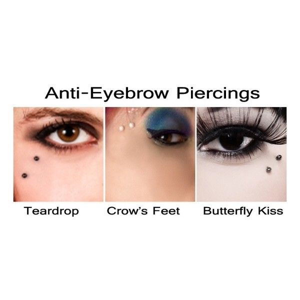 Body Art & Modification / Anti eyebrow piercings ❤ liked on Polyvore