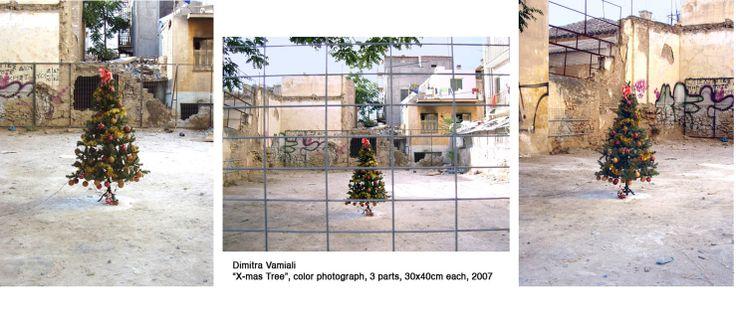 """Dimitra Vamiali, """"X-mas tree' triptych, photographs"""