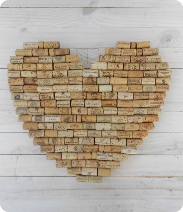 cork heart....now I know what to do with them.