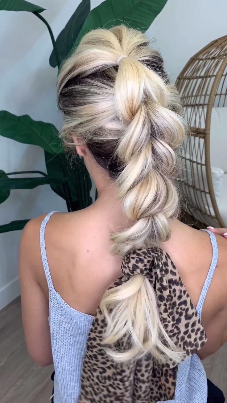 Easy Pull Through Braid with Hair Scarf