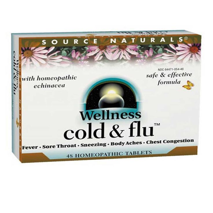 Source Naturals, ウェルネス風邪&インフルエンザ, 48ホメオパシー錠