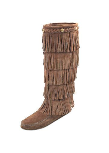 5-LAYER FRINGE KNEE HI BOOT