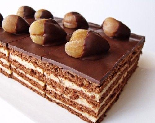 Csokoládés gesztenyekocka