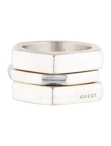 Gucci Set of Three Irregular Hexagonal Rings