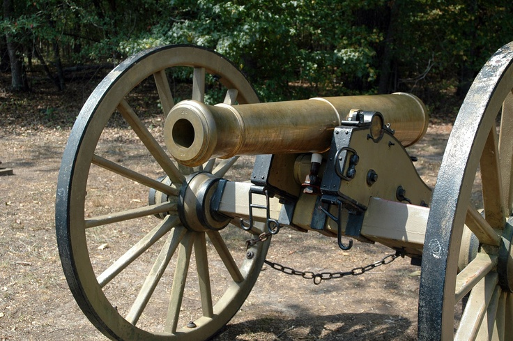Bronze Model 1841 6-Pounder Gun. A common cannon in the Civil War.