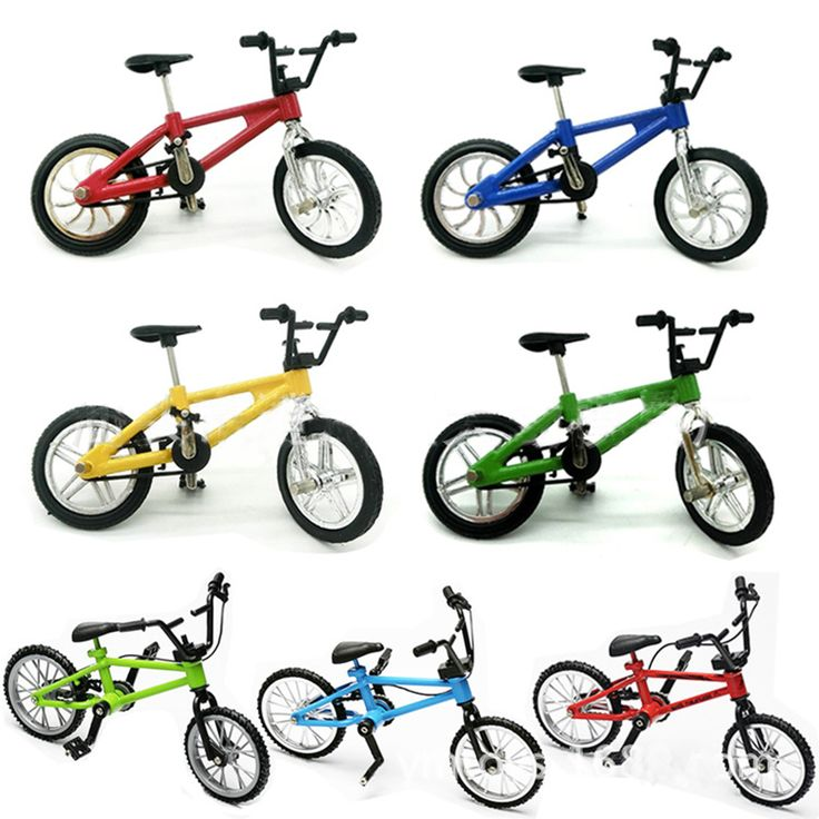 Alloy Mini Finger BMX Bicycle Flick Trix BMX Bicycle Model Finger Bikes Toys Bike Tech Deck Gadgets Novelty Gag Toys For Kids