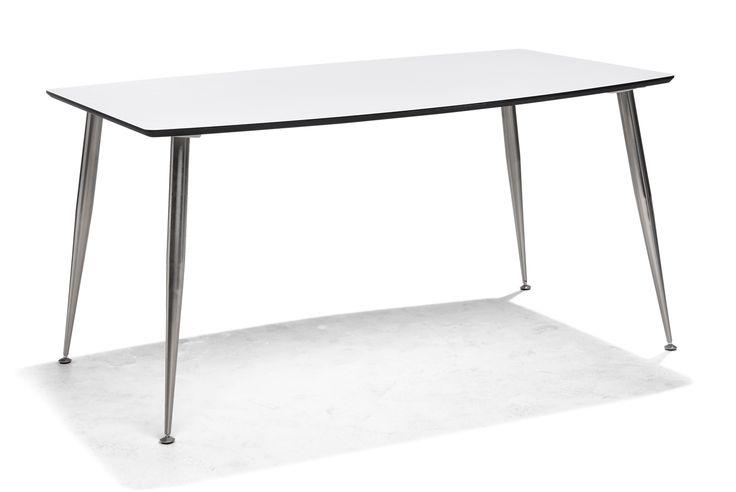 MORRIS-ruokapoyta 140 x 90 cm, valkoinen/musta