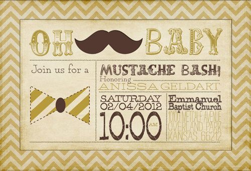 PRINTABLE  Digital File Only  Mustache by YellowDoorCreative, $30.00