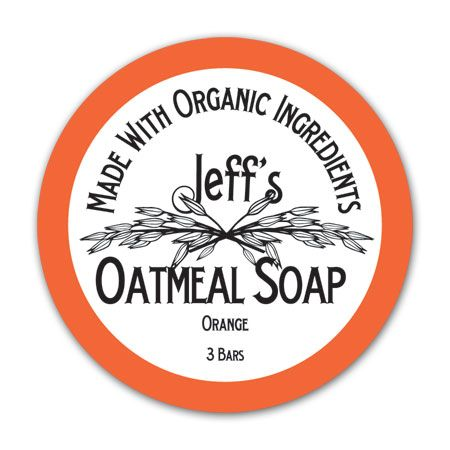 Jeff's Oatmeal Soap label