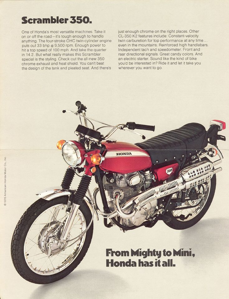 Honda 350 CL. My ride as a teenager.