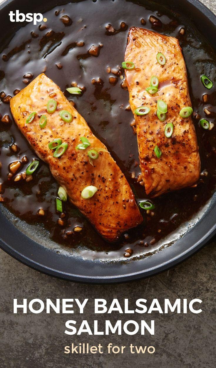 Honey Balsamic Salmon Skillet for Two | Recipe in 2020