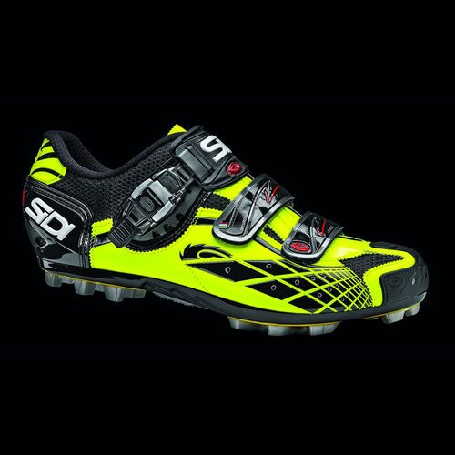Sidi Spider MTB Cycling Shoes Yellow Fluorescent