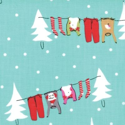 Aneela Hoey: Cherry Christmas: Christmas Washing Line - Peppermint