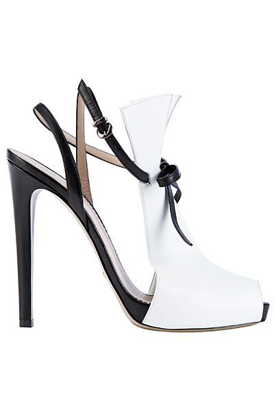 Tendance chausseurs : Emporio Armani  White  Black Leather High Heel Sandal – Ananas 👑💖