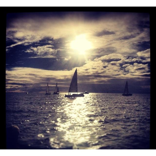Sailing off Freo coast