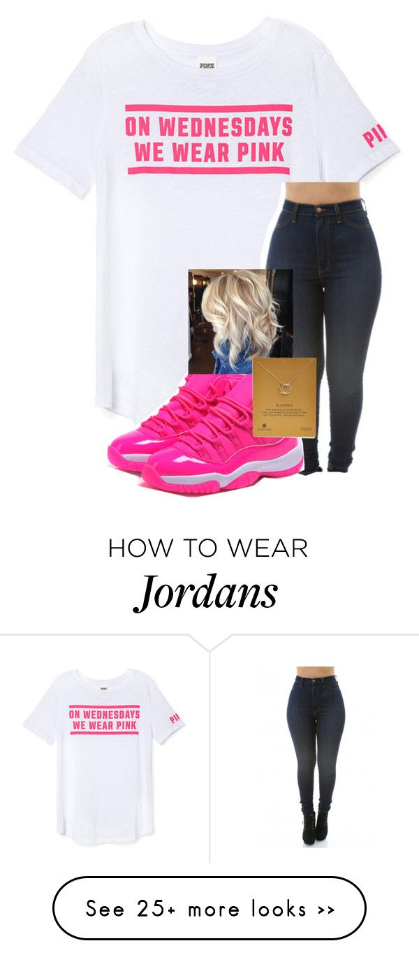 """"""""""" by bruhhhyourhot on Polyvore featuring Victoria's Secret PINK and Dogeared"""