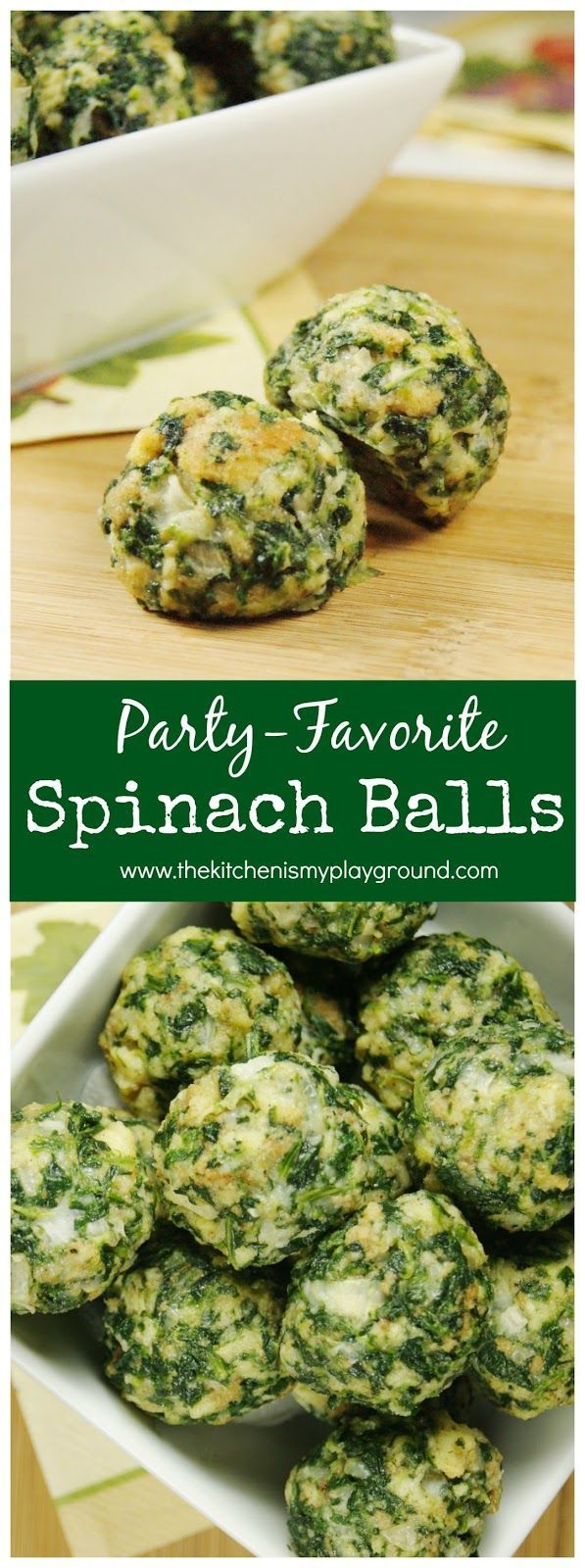 Always a crowd-pleasing favorite nibble. With a combination of spinach and stuffing mix, who can resist?