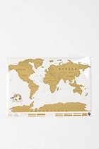 Scratch Off World Map  #UrbanOutfitters - When you've visited somewhere, scratch off the coating over the area and it will reveal a colored map beneath. A really cool way to watch your world travel progress. :)
