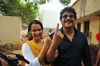 Tollywood Celebrities Vote - get Inked Photos, Nandamuri Balakrishna, Nagarjuna Akkineni, Amala, Chiranjeevi, Surekha, Ram Charan, Naga Babu, Varun Tej, Krishna, Vijaya Niramala, MM Keeravani, Srivalli, Anchor Jhansi