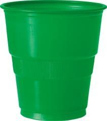 Green Plastic 270mL Cups (Pack of 12)