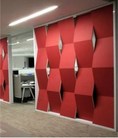 Acoustical Office Wall