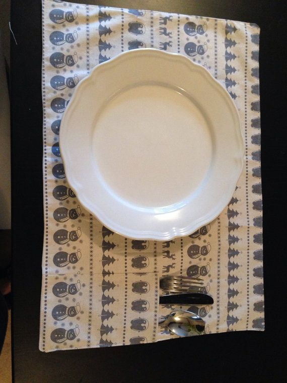 Beautiful rustic christmas placemat by Whistlebrook on Etsy
