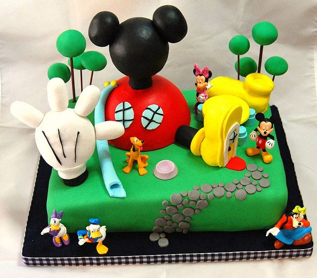 M s de 25 ideas fant sticas sobre pastel de mickey mouse for Decoracion la casa de mickey mouse