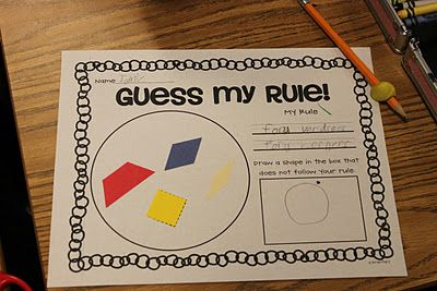 Crazy for First Grade: Attributes and Sorting Fun!!