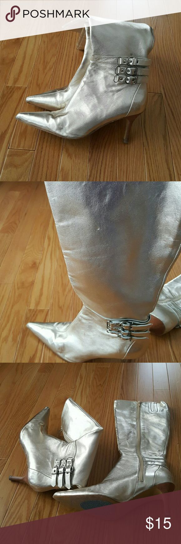 Charles By Charles David Knee High Boots Charles By Charles David Womens Knee High Boots, Gold Metallic Leather, Size 7, Great Condition Charles David Shoes Heeled Boots