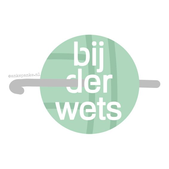 Logo design for Bijderwets (handmade crochet products webshop) by http://ankepanke.nl