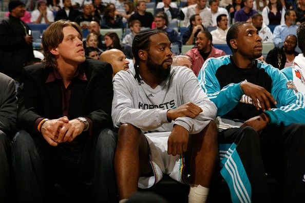 Chris Andersen Photos Photos - Chris Andersen #1 of the New Orleans Hornets left, watches the game from the bench against the Atlanta Hawks on March 5, 2008 at the New Orleans Arena in New Orleans, Louisiana. Andersen was reinstated after a two year suspension from the league.  The Hornets defeated the Hawks 116-101.   NOTE TO USER: User expressly acknowledges and agrees that, by downloading and/or using this Photograph, user is consenting to the terms and conditions of the Getty Images…
