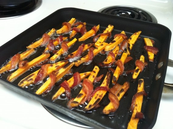 Bacon Wrapped Sweet Potato Fries | Potatoes | Pinterest