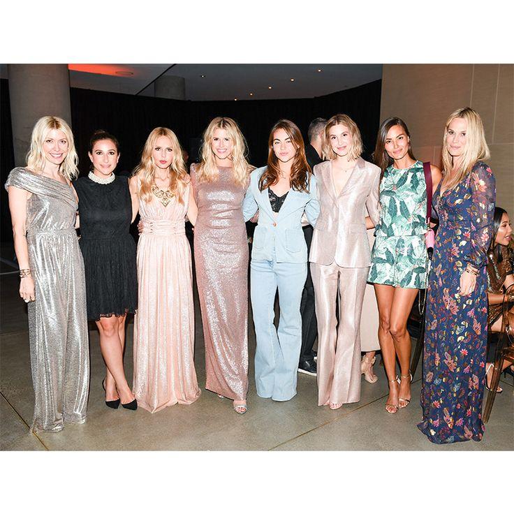 Shelley Gibbs, Sarah Meyer, Rachel Zoe, Sarah Wright Olsen, Victoria Edwards, Whitney Port, Anne Marie Kortright, Molly Simms (from left to right)