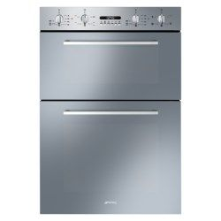 Smeg DOSF44X Cucina 60cm Stainless Steel Double Multifunction Oven with New Style Controls | Appliances Direct