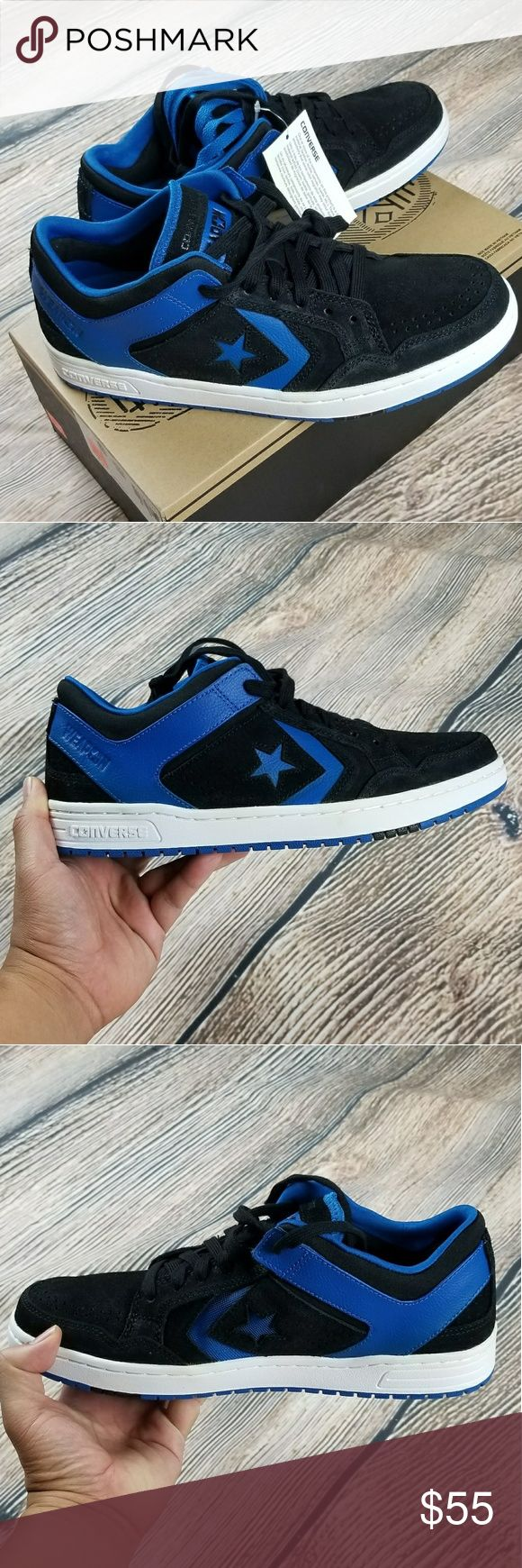 *NWT* CONVERSE Weapon sneakers *NWT* CONVERSE Weapon Skate Ox Larkspur / Black sneakers. Comes with extra pair of blue shoe lace.  Size: 11 Color: Blue/black Retail: $85  Note: New shoes comes with box but NO lid. Converse Shoes Sneakers