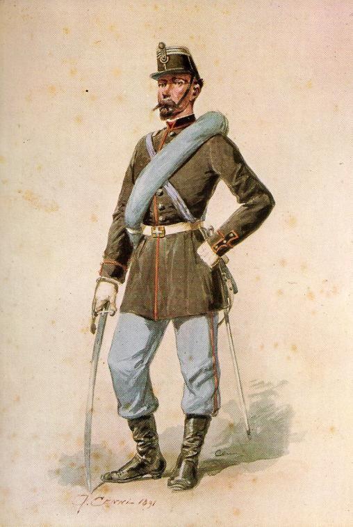 Regio Esercito - Capitano del 1° Reggimento della Brigata Savoia