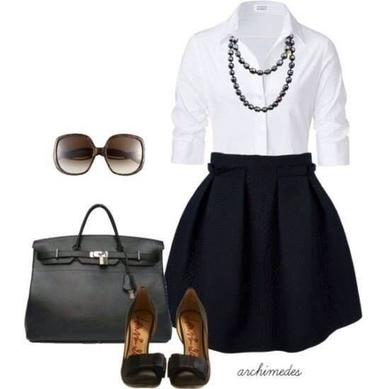 Super cassic look - business attire, office fashion